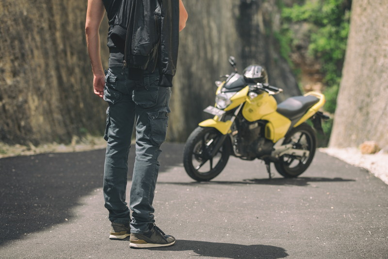 バイクで旅を